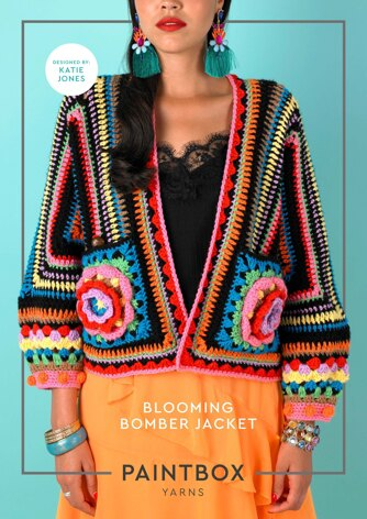 Blooming Bomber Jacket in Paintbox Yarns Simply Aran - Downloadable PDF