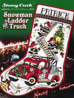 Stoney Creek Snowman Ladder Truck Stocking - SCL452 -  Leaflet