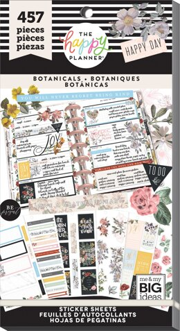 Me & My Big Ideas Happy Planner Sticker Value Pack - Vintage Botanical, 457/Pkg