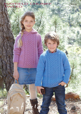Sweaters in Hayfield Chunky Tweed - 2444 - Downloadable PDF
