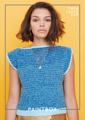Twin Lakes Top - Free Crochet Pattern For Women in Paintbox Yarns Cotton DK and Metallics DK