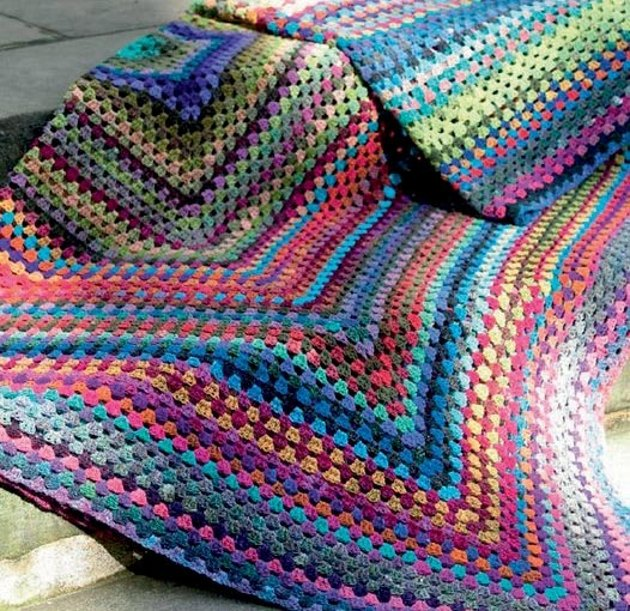 Noro Yarn Free Crochet Patterns : Crochet Blanket in Noro Kureyon Knitting Patterns ...