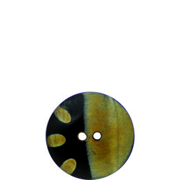 Dots and Stripe Horn 25mm 2-Hole Button