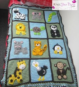 Zoo Blanket Base Pattern (not including appliques)