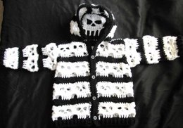 Baby Bone Head Creepy Skull Hoodie