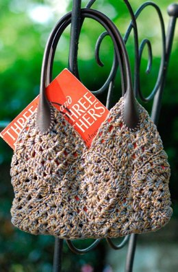 Crocheted Granny Square Purse in Classic Elite Yarns Provence