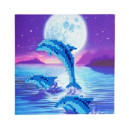 Craft Buddy Dolphins Crystal Card Kit