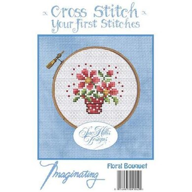 Imaginating Floral Bouquet Cross Stitch Kit - 2.4in x 2.1in
