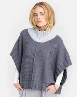 Two Harbors Poncho in Blue Sky Fibers - 20156 - Downloadable PDF