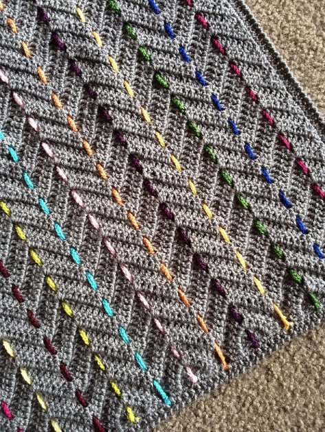 Threaded Colors Chevron Crochet Pattern By Rachele Carmona