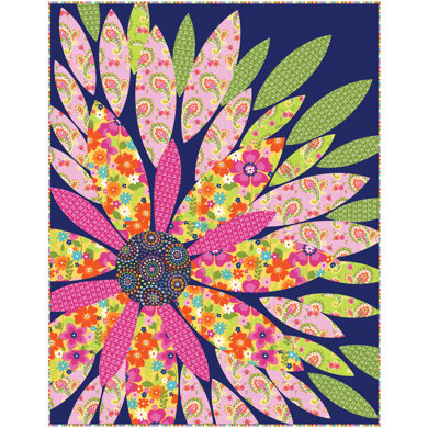Michael Miller Fabrics Flowertopia Quilt - Downloadable PDF