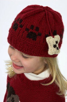 Doggie Hat in Plymouth Encore Worsted - F143