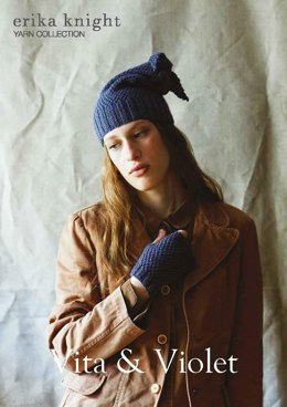 Vita & Violet Hat in Erika Knight British Blue 100