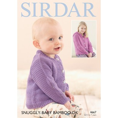 Sirdar Knitting Pattern Abbreviations : Cardigans in Sirdar Snuggly Baby Bamboo DK - 4667- Downloadable PDF