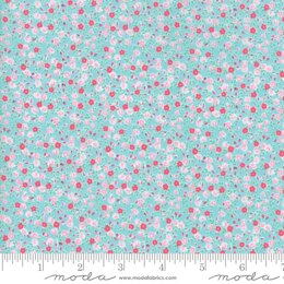 Moda Fabrics First Romance Blue Eye Floral Cut to Length - Sweetheart Aqua