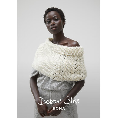 North Cape : Cape Knitting Pattern for Women in Debbie Bliss Super Bulky | Super Chunky Yarn