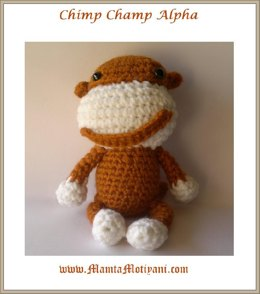 Crochet Chimpanzee Monkey Ape Pattern Unique Amigurumi Toy
