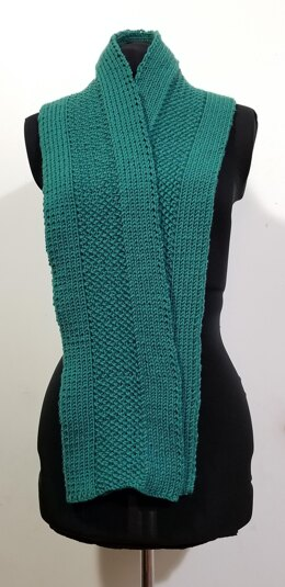 Seed Stitch and Ribbed Knit Scarf