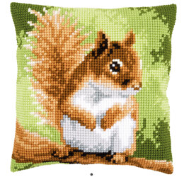 Vervaco Red Squirrel Cross Stitch Cushion Kit