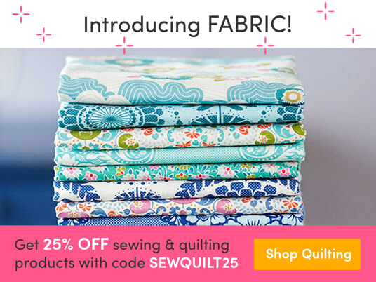 25 percent off sewing & quilting products! Code: SEWQUILT25