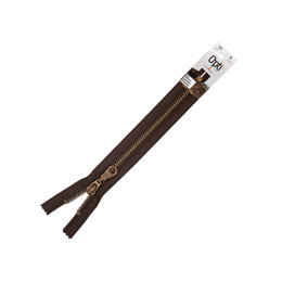Zipper with Mosel Antique Gold Tag, M60 CE, 20cm