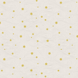 Lewis & Irene Jardin De Lis  - Gold stars on cream