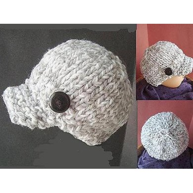 401 KNITTED NEWSBOY HAT