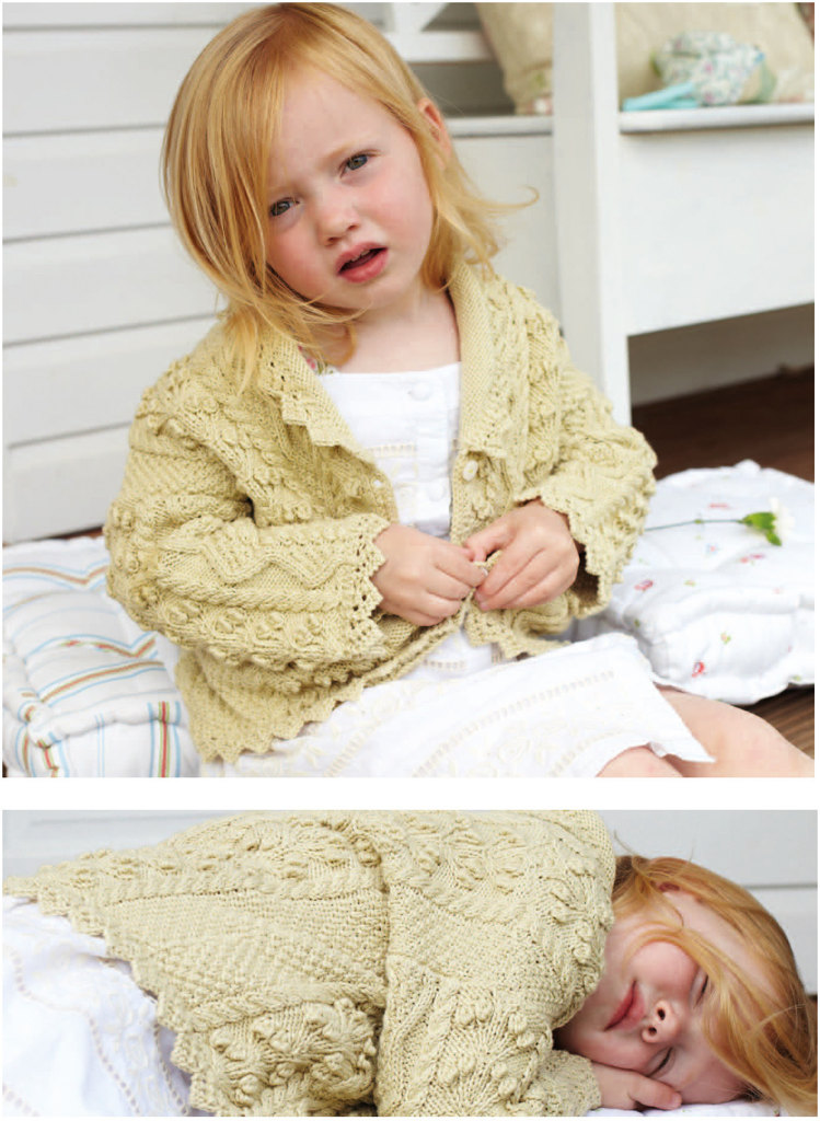 Lace Edged Cardigan in Debbie Bliss Eco Baby - CF03