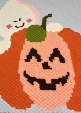 He Smiles Back With His Pumpkin Blanket