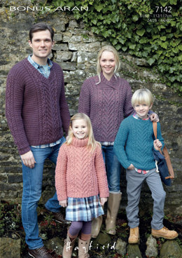 Sweaters in Hayfield Bonus Aran with Wool - 7142 - Downloadable PDF