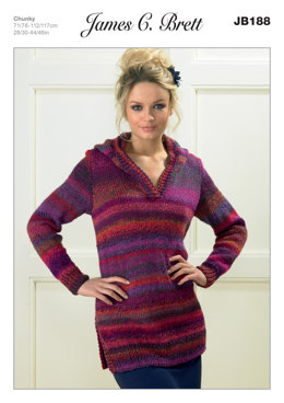 c58c3fea2a183 Ladies  Sweater in James C. Brett Marble Chunky - JB188