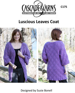 Luscious Leaves Coat in Baby Alpaca - C175