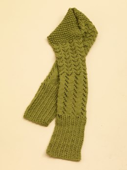 Lace Sampler Scarf in Lion Brand Wool-Ease - 70532AD