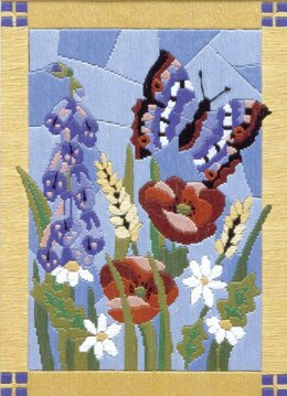 Anchor Stained Glass Butterfly Longstitch Kit - Multi