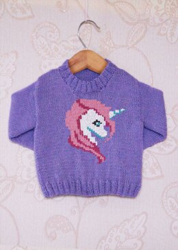 Intarsia - Blossom The Unicorn Chart & Childrens Sweater