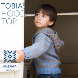 """Tobias Hooded Top"" - Top Knitting Pattern For Boys in MillaMia Naturally Soft Merino"
