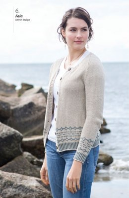 Fala Cardigan in Berroco Indigo - Downloadable PDF