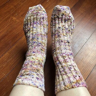 Speckled Cable Socks
