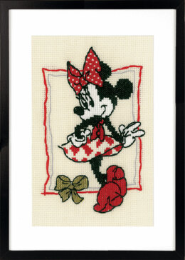 Vervaco Disney It's About Minnie Counted Cross Stitch Kit - 13 x 18cm