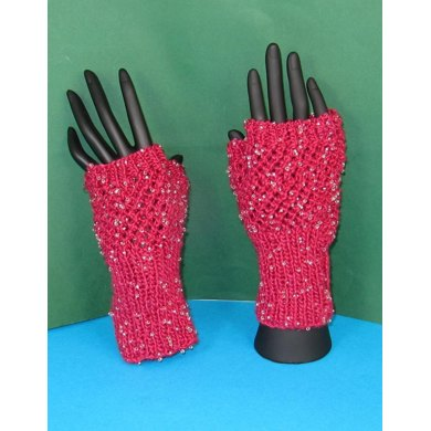 Beaded Easy Lace Fingerless Gloves