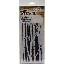 "Stampers Anonymous Tim Holtz Layered Stencil 4.125""X8.5"" - Birch"
