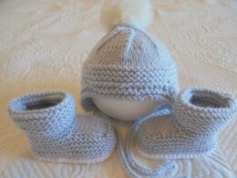 Easy Baby Hat And Booties