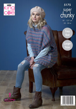 Ladies Ponchos in King Cole Orbit Super Chunky - 5175 - Leaflet