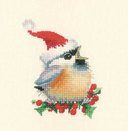 Heritage Christmas Chick, 28 count Evenweave Cross Stitch Kit