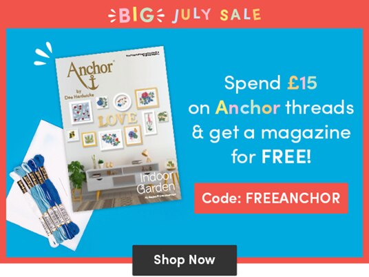 Spend £15 on Anchor threads and get a magazine for FREE! Code: FREEANCHOR