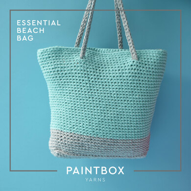 Essential Beach Bag in Paintbox Yarns Recycled Ribbon and Recycled Metallic Ribbon - Downloadable PDF