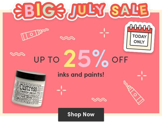 Up to 25 percent off inks & paints!