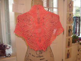 Painted Leaf Butterfly Shawl