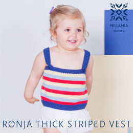 Ronja Thick Stripe Tank in MillaMia Naturally Soft Cotton - Downloadable PDF