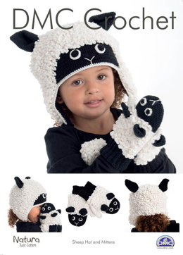 Animal Hat & Matching Mittens in DMC Natura Just Cotton - 15321L/2